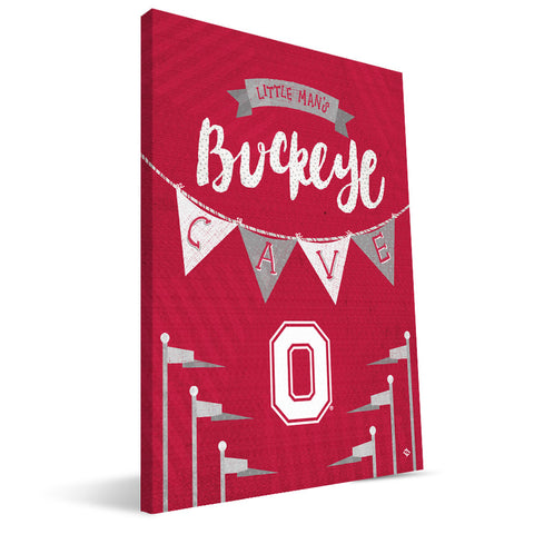 Ohio State Buckeyes Little Man Canvas Print