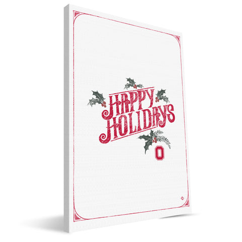 Ohio State Buckeyes Merry Little Christmas Canvas Print