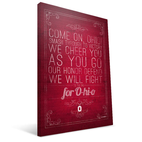 Ohio State Buckeyes Song Canvas Print