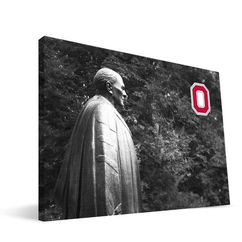 Ohio State Buckeyes William Oxley Thompson Statue Canvas Print