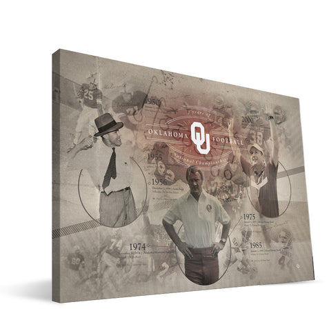 Oklahoma Sooners Football Championship Canvas Print