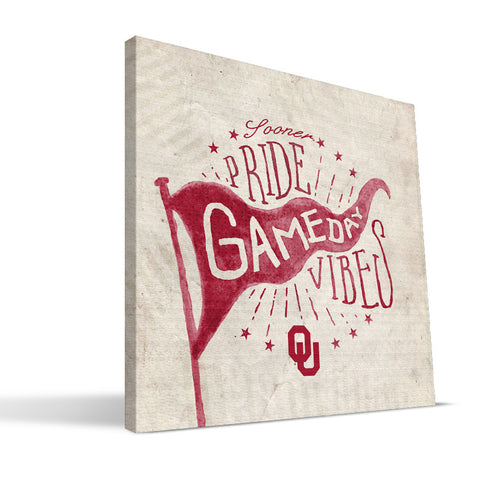 Oklahoma Sooners Gameday Vibes Canvas Print