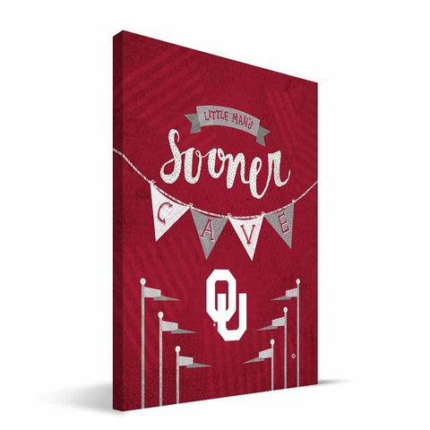Oklahoma Sooners Little Man Canvas Print