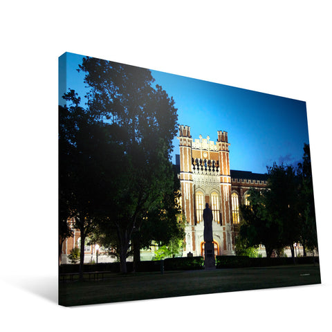 Oklahoma Sooners Bizzell Memorial Library Canvas Print