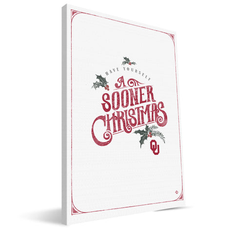 Oklahoma Sooners Merry Little Christmas Canvas Print
