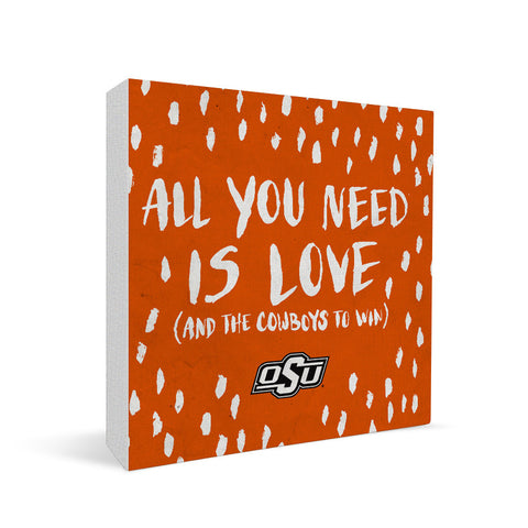 Oklahoma State Cowboys All You Need Square Shelf Block