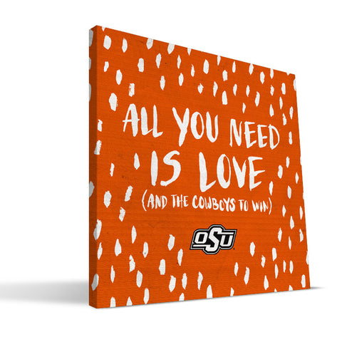 Oklahoma State Cowboys All You Need Canvas Print