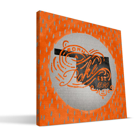 Oklahoma State Cowboys Born a Fan Canvas Print