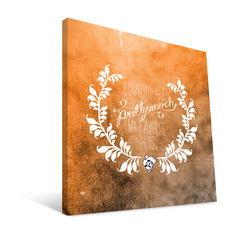 Oklahoma State Cowboys Favorite Thing Canvas Print