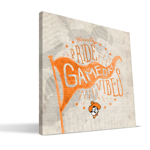 Oklahoma State Cowboys Gameday Vibes Canvas Print