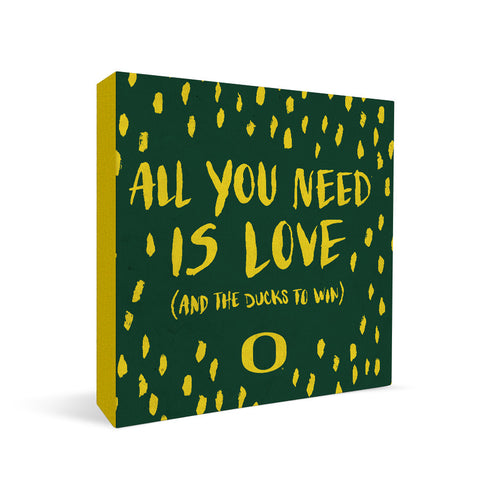 Oregon Ducks All You Need Square Shelf Block