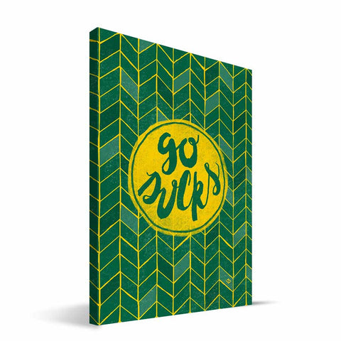 Oregon Ducks Geometric Canvas Print