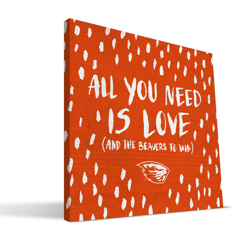Oregon State Beavers All You Need Canvas Print