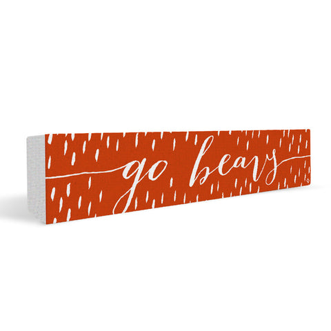 Oregon State Beavers Rally Cry Brush Mark Rectangular Shelf Block