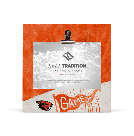 Oregon State Beavers Gameday Vibes Picture Frame with Clip