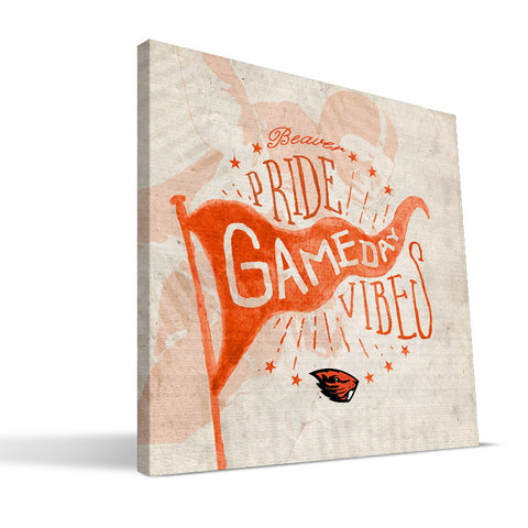 Oregon State Beavers Gameday Vibes Canvas Print