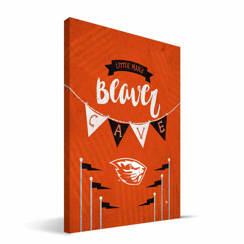 Oregon State Beavers Little Man Canvas Print