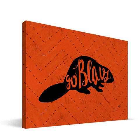 Oregon State Beavers Mascot Canvas Print
