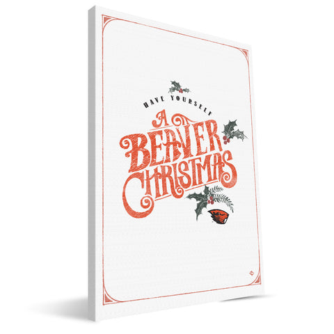 Oregon State Beavers Merry Little Christmas Canvas Print