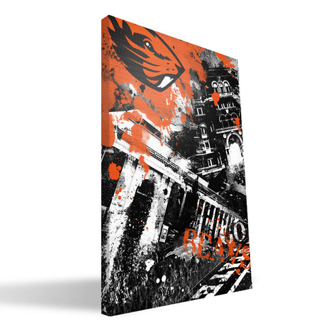 Oregon State Beavers Spirit Canvas Print