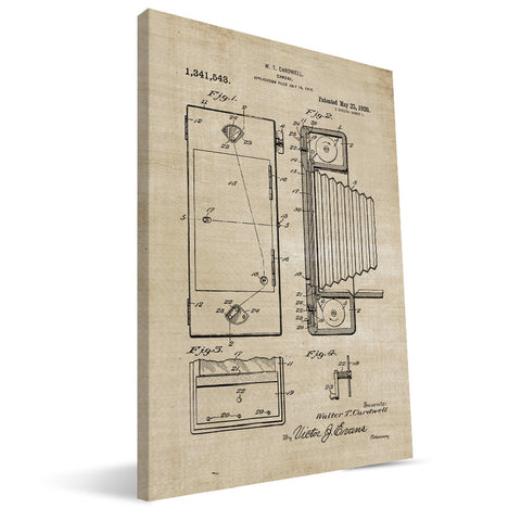 Cardwell Camera Patent Canvas Print