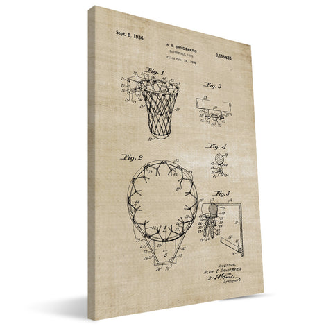Basketball Goal Patent Canvas Print