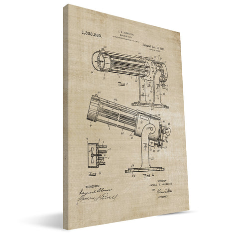 Machine Gun Patent Canvas Print