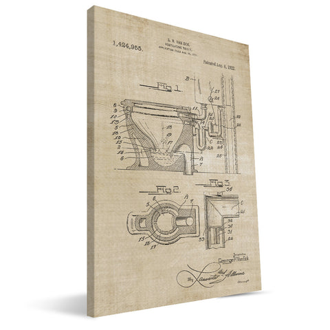 Toilet Patent Canvas Print