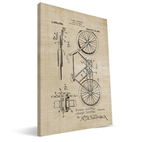Bicycle Gearing Patent Canvas Print