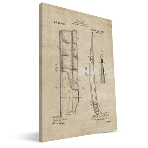 Airplane Wing Patent Canvas Print