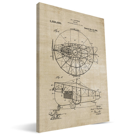 Airplane Patent Canvas Print