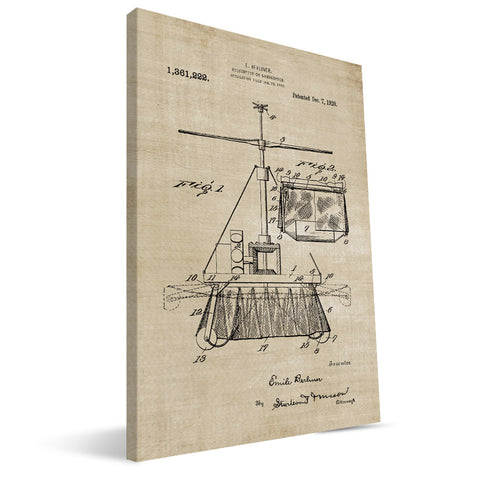 Helicopter Patent Canvas Print