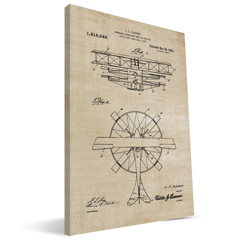 Combo Airplane-Helicopter Patent Canvas Print