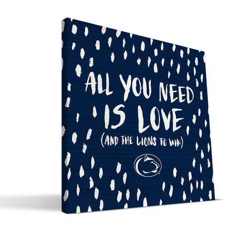 Penn State Nittany Lions All You Need Canvas Print