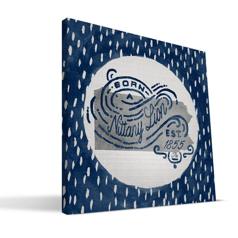 Penn State Nittany Lions Born a Fan Canvas Print