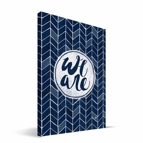 Penn State Nittany Lions Geometric Canvas Print