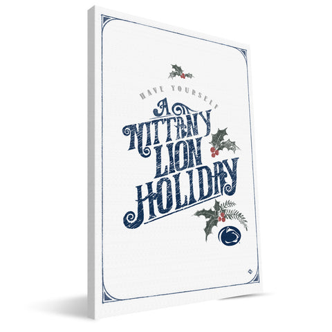 Penn State Nittany Lions Merry Little Christmas Canvas Print