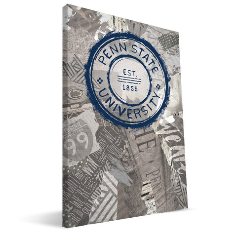 Penn State Nittany Lions Scrapbook Canvas Print