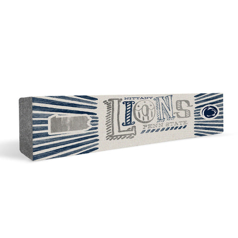 Penn State Nittany Lions State Rectangular Shelf Block