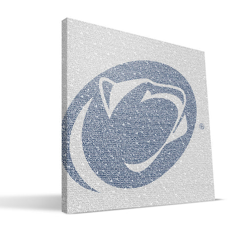 Penn State Nittany Lions Typo Canvas Print