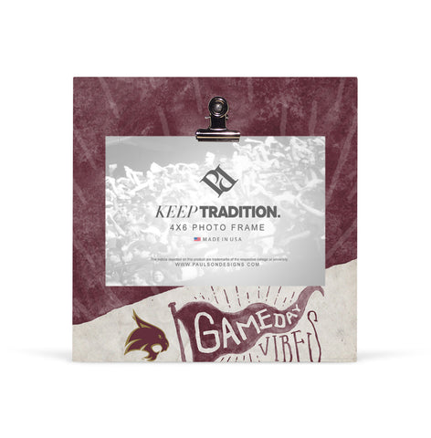 Texas State Bobcats Gameday Vibes Picture Frame with Clip