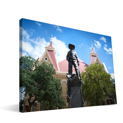 Texas State Bobcats Old Main Canvas Print