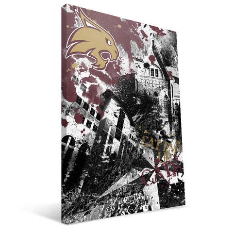 Texas State Bobcats Spirit Canvas Print