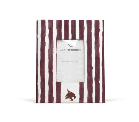 Texas State Bobcats School Stripes Picture Frame