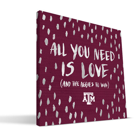 Texas A&M Aggies All You Need Canvas Print