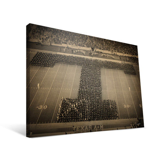 Texas A&M Aggies Corps Block T Canvas Print