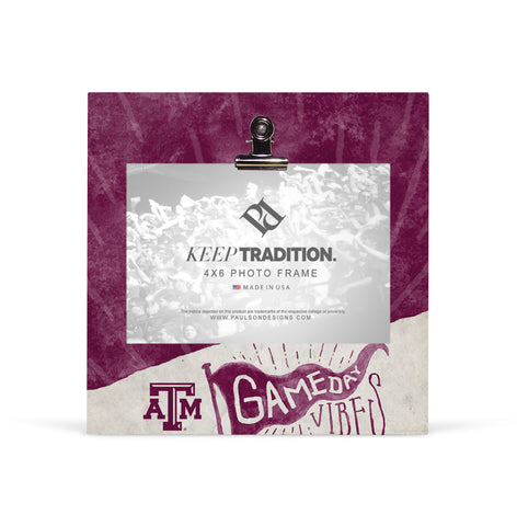Texas A&M Aggies Gameday Vibes Picture Frame with Clip