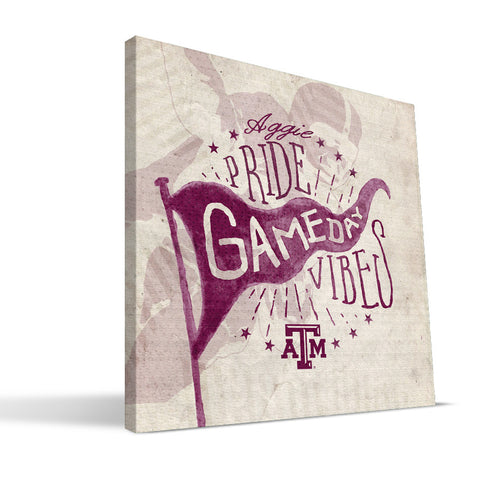 Texas A&M Aggies Gameday Vibes Canvas Print