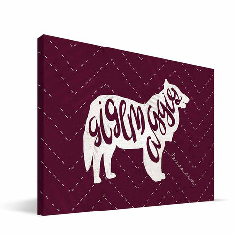 Texas A&M Aggies Mascot Canvas Print