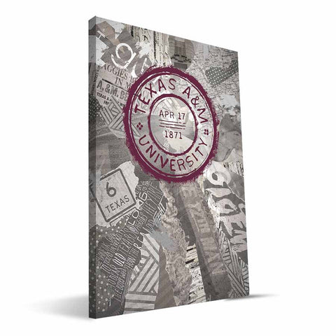 Texas A&M Aggies Scrapbook Canvas Print